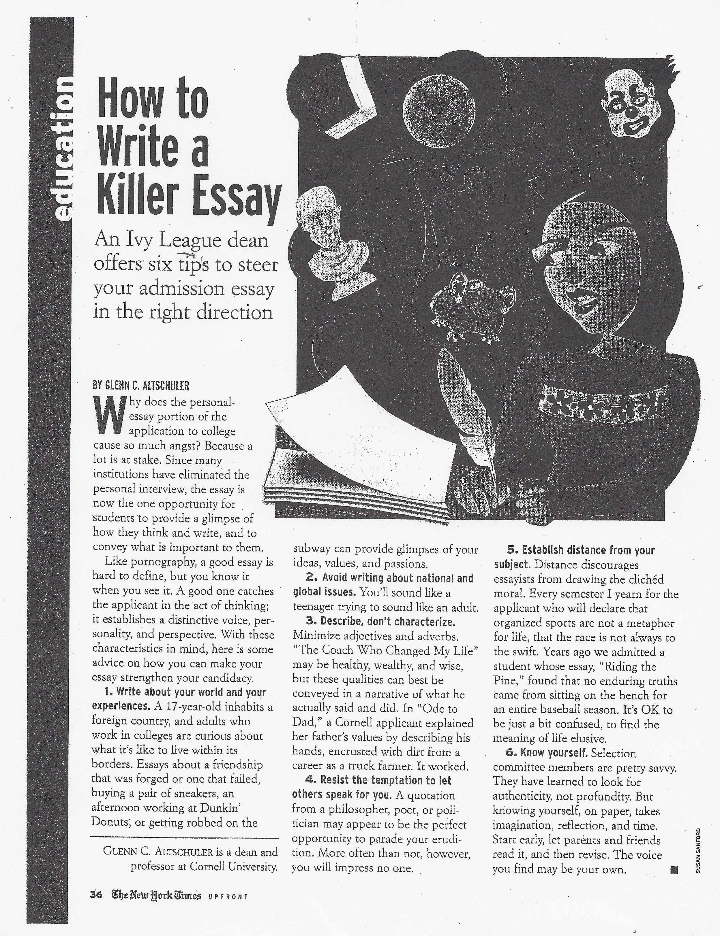 College essay webquest